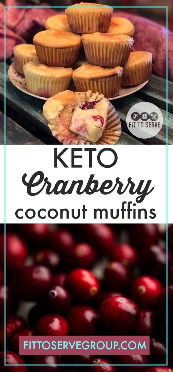 Keto Cranberry Coconut Muffins
