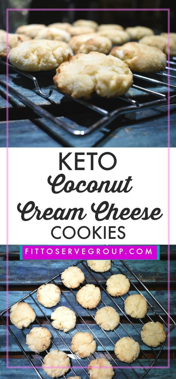 A recipe for Keto coconut cream cheese cookies