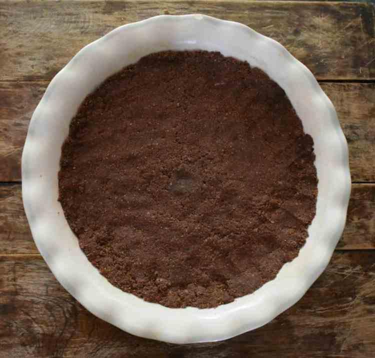 recipe for a keto no bake chocolate crust that mimics an oreo cookie crust