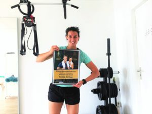 Baukje de Haas van Fittrr met Dutch Fitness Award