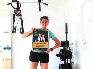 Baukje de Haas van Fittrr met Dutch Fitness Award
