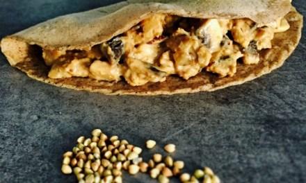 Crêpe au sarrasin et poêlée de lupin aux champignons