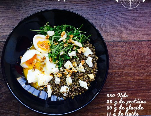 salade lentilles oeuf pochés sucrée salée