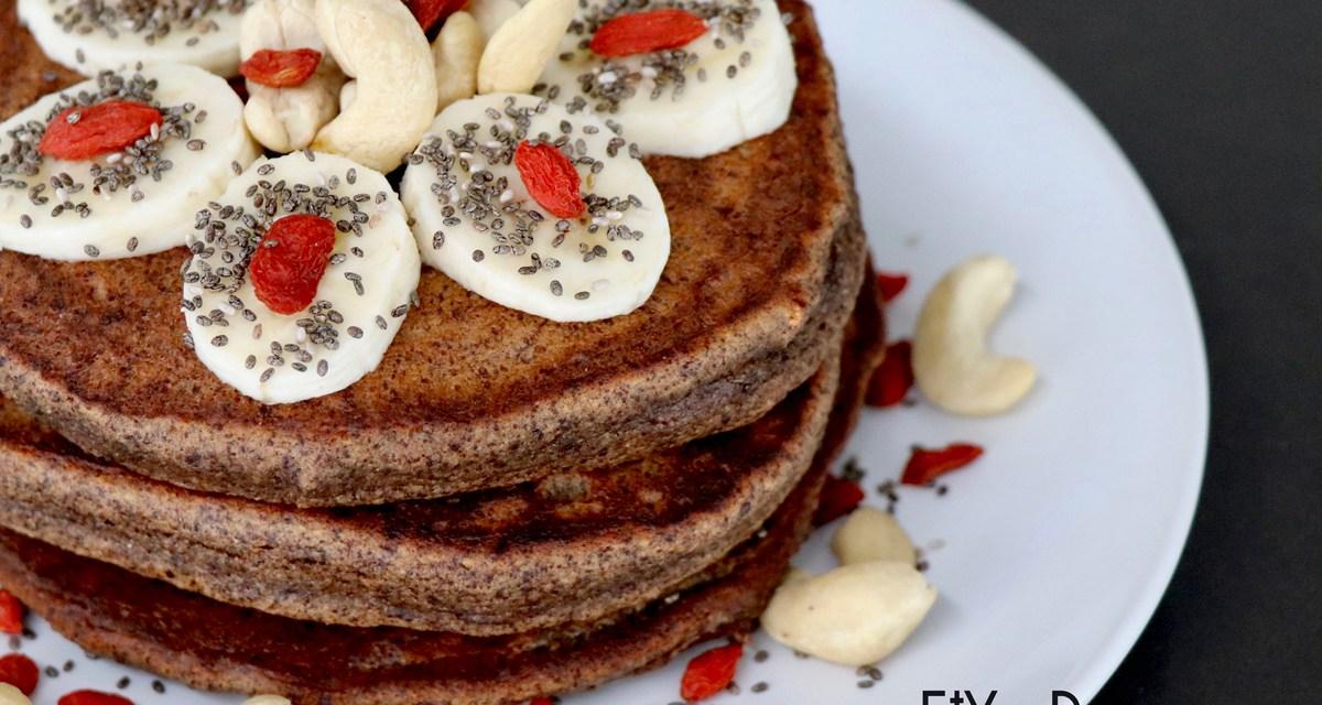 Pancakes sans gluten au chocolat