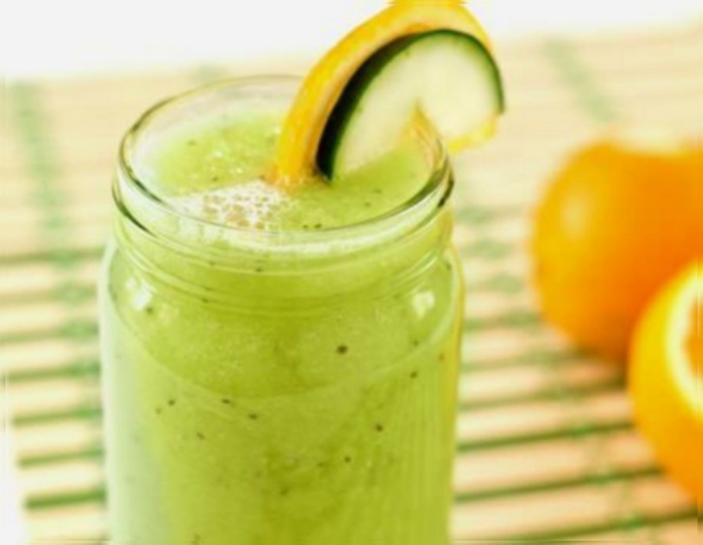 Cucumber, Orange, and Chia Frappe paleo smoothie recipe - Fitzabout