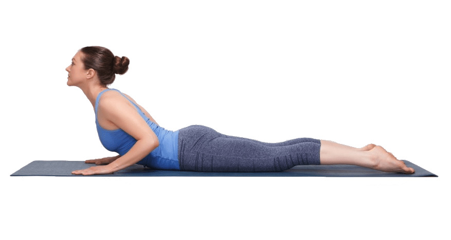 women doing Cobra Pose (Bhujangasana) for relief back pain - fitzabout