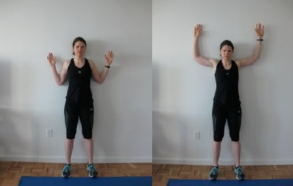 wall stick up exercise for obesity people - fitzabout