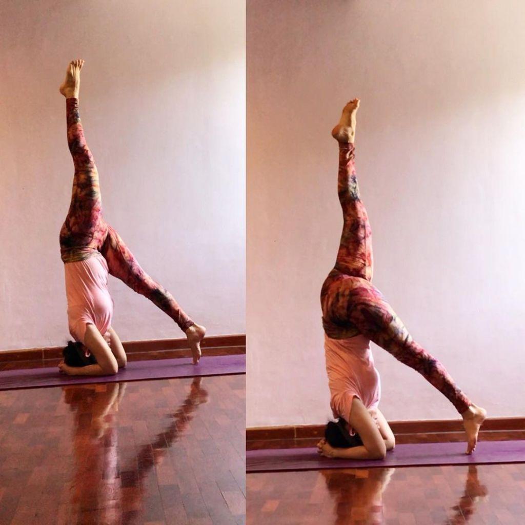 Eka pada Sirsasana - One Legged Headstand Pose - Fitzabout