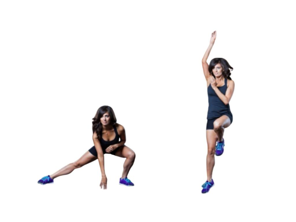 Lateral lunge to basketball throw exercise - Fitzabout