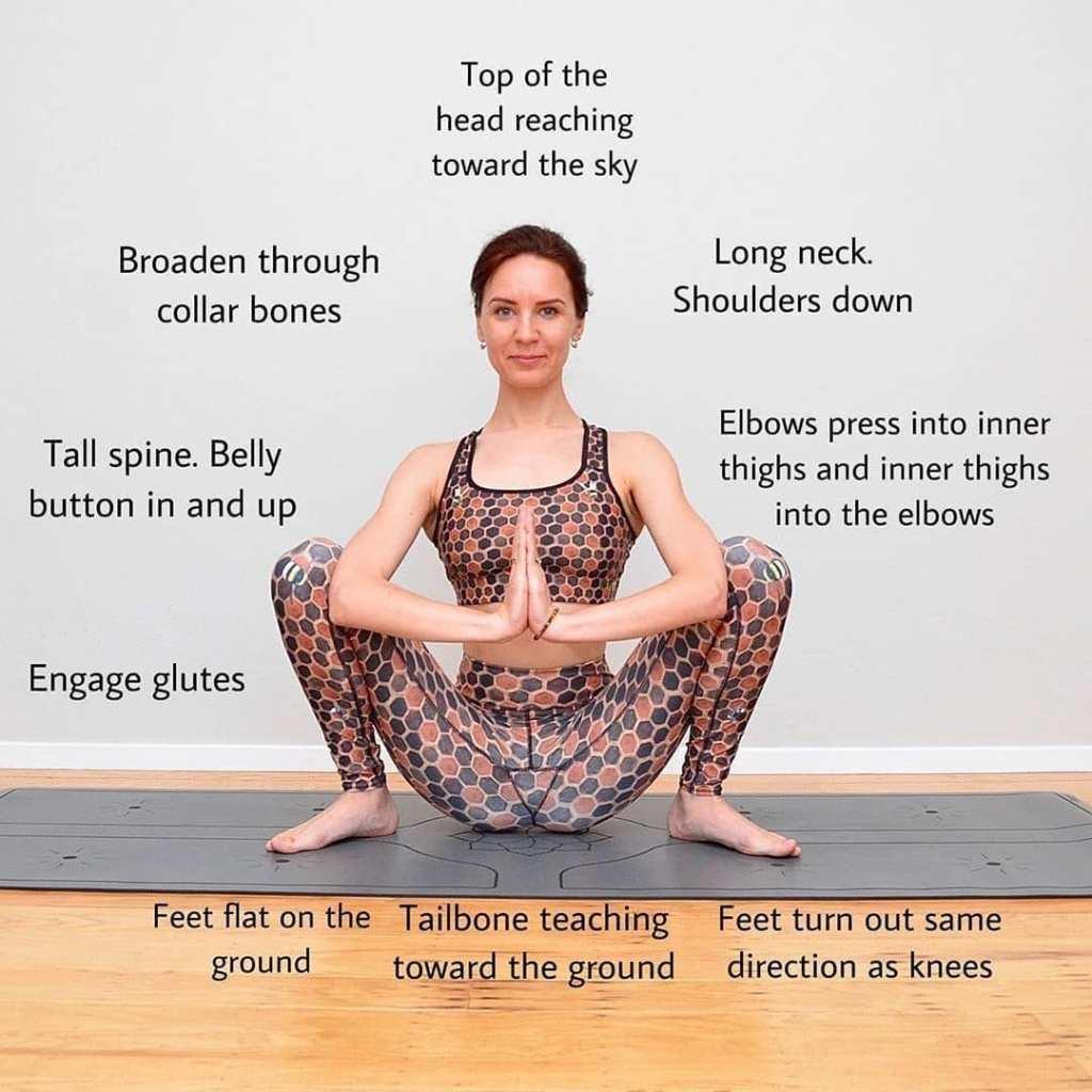 Yogi squat, Malasana (Garland Pose) Steps, Variations and Benefits - Fitzabout