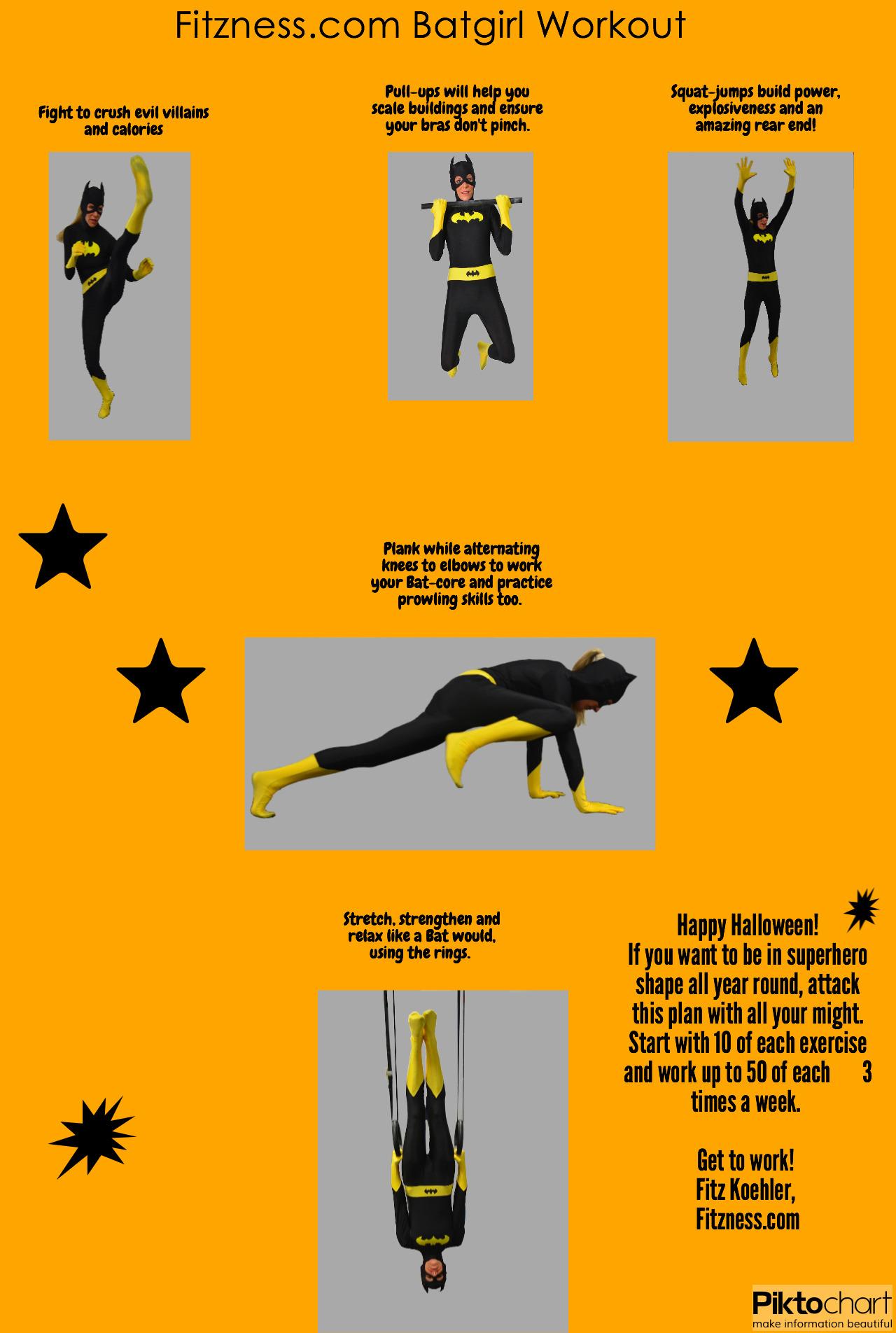 Fitzness Batgirl Fitness Halloween Infographic FINAL
