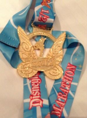 tinkerbell half marathon medal