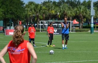 Pro Soccer Star Bobby Zamora coaching at Disney's Soccer Academy. DisneySoccerAcademy.com