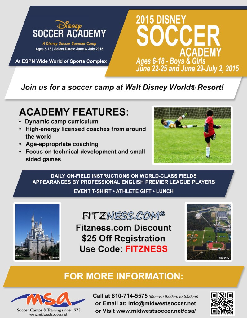 disney soccer academy discount code save on summer camp