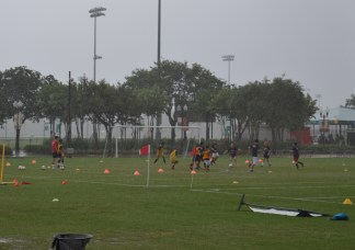 The most fun time to play soccer is ... when it's raining!
