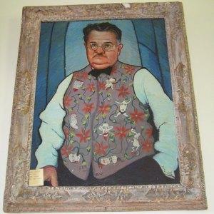 Alexander Woollcott painting in Vermont.