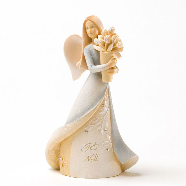 Foundations Get Well Mini Angel Figurine Fitzulas Gift Shop
