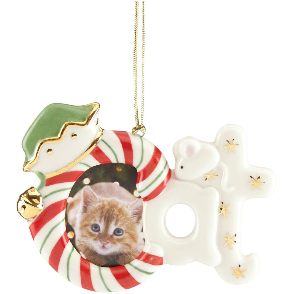 Lenox Furry Christmas Cat Frame Ornament Fitzulas Gift Shop