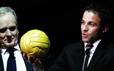 Del Piero durante la presentazione