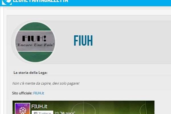 Facebook like box sulla nostra pagina Lega Fantagazzetta