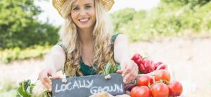 locally grown and produced food
