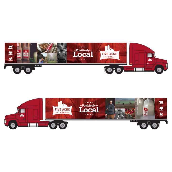 Five Acre Farms truck graphics