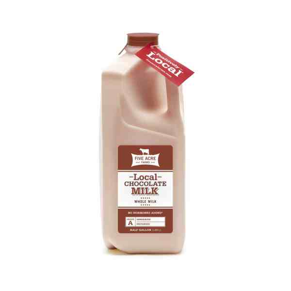 Chocolate Milk Five Acre Farms Half Gallon