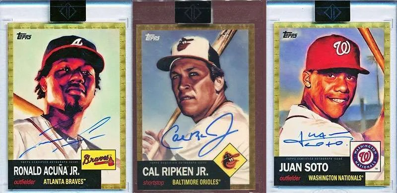 2019 Topps Transcendent 1953 superfractor baseball cards