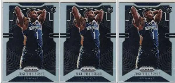 Zion Williamson Panini Prizm Silver Rookie Cards