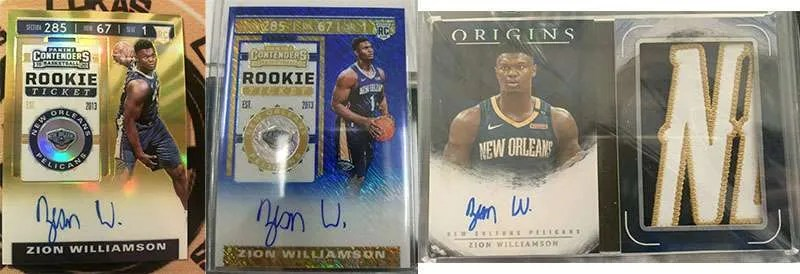 Zion Williamson basketball cards