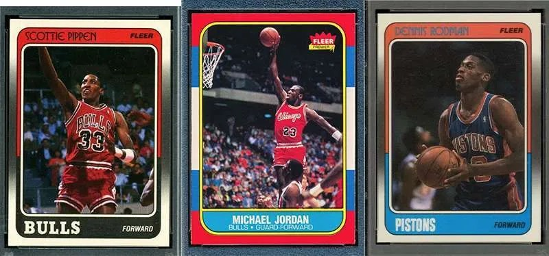 The Last Dance Chicago Bulls basketball cards