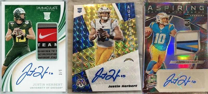 Justin Herbert top rookie cards