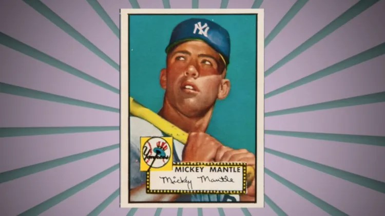 Mickey Mantle 1952 Topps baseball card