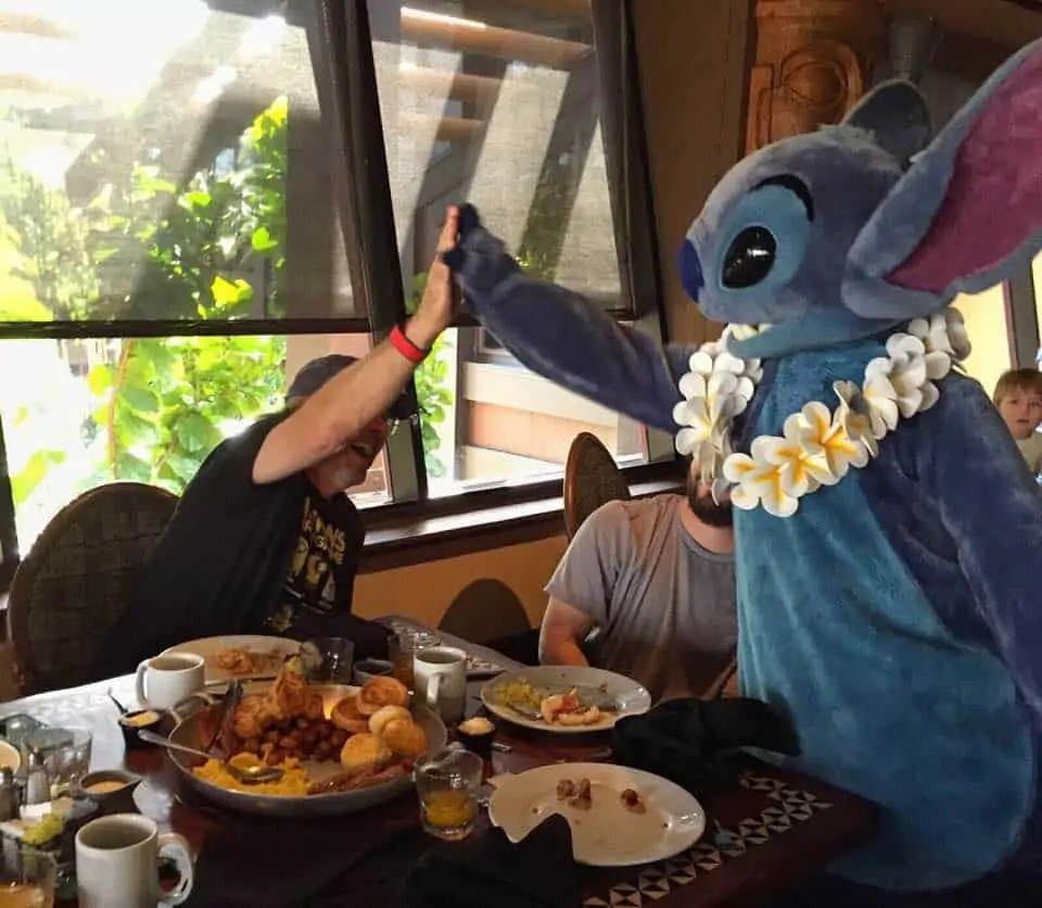 stitxh at 'ohana character breakfast