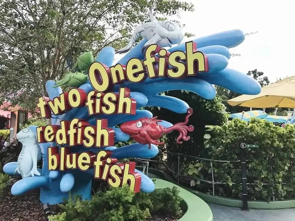 seuss landing one fish two fish red fish blue fish