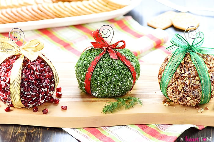 Christmas Ornament Cheese Balls