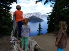 Checking out Crater Lake