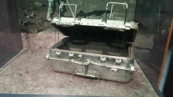 Lunar sample container from a real Apollo mission