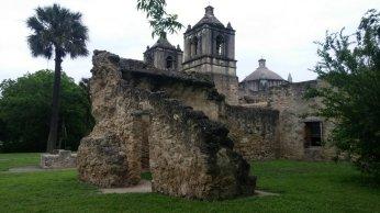 Mission Concepcion - Oldest unrestored stone church in U.S.