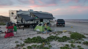 Perfect campsite on the beach