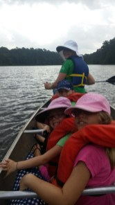 Canoeing on Lake Raven, Huntsville State Park