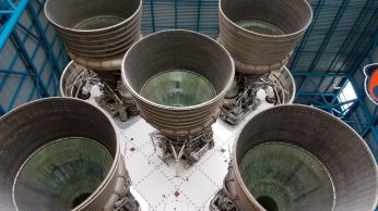 Saturn V rocket engines. Unbelievably enormous