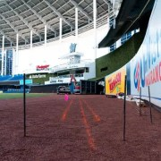 The Miami Marlins are moving in the fence 12 feet in center and right-center field.