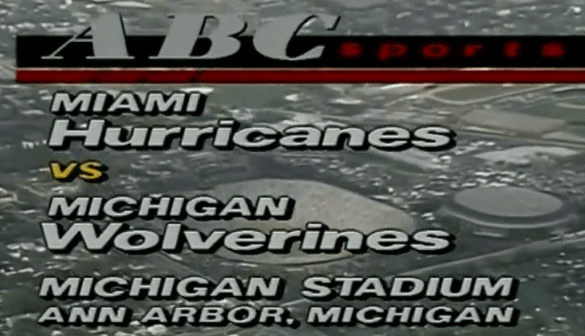 Recollected Dozen, Game 2: 1988 Miami @ Michigan
