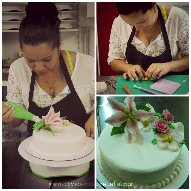 Cake Decorating Class at Mundo de la Reposteria - Barcelona, Spain