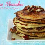 Banana Pancakes with Pecans & Maple Syrup Recipe   Five Senses Palate