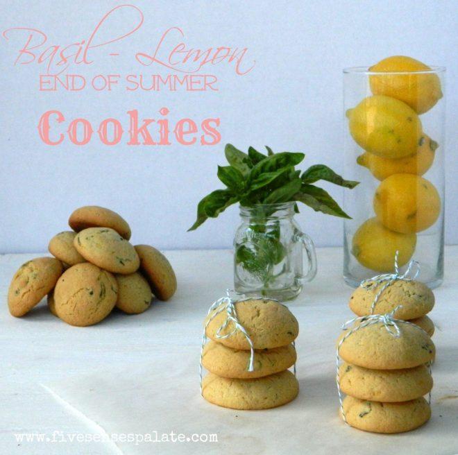Basil Lemon Cookies Recipe   Five Senses Palate