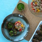 Spiced Lamb Chops with Cilantro Chutney Recipe | Five Senses Palate