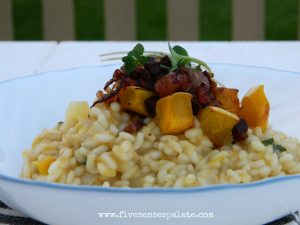 Delicata Squash Risotto Recipe | Five Senses Palate