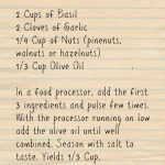 Paul's Pesto Recipe | Five Senses Palate
